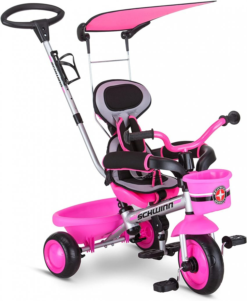 Schwinn Roadster Kids Tricycle, Easy Steer 4 in 1 Tricycle Review.