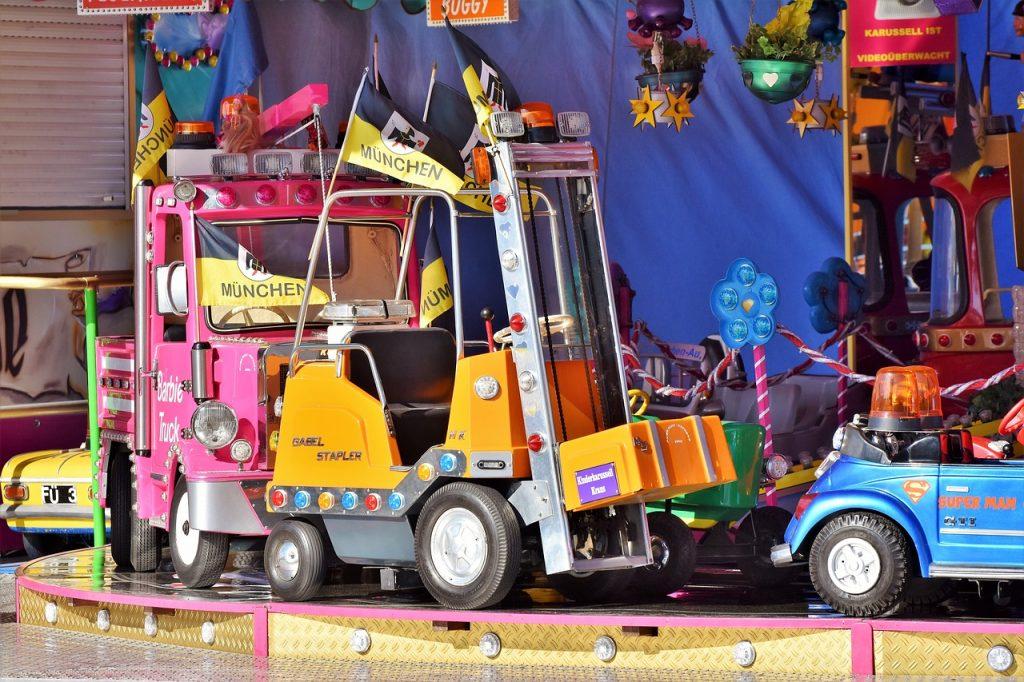 Types of kids riding toys.