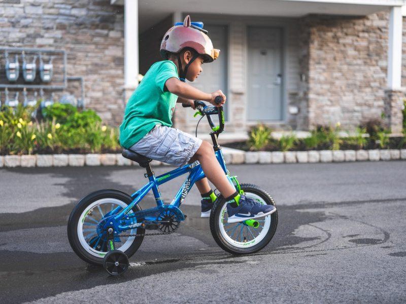 Kids' bike safety.